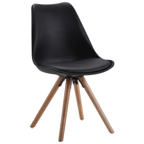 Stuhl schwarz eichefarben online kaufen m max for Stuhl schwarz holz