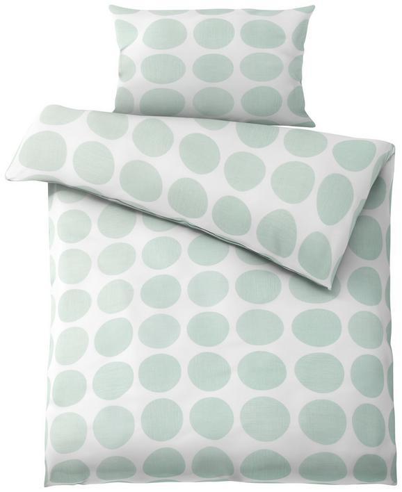 Posteljnina Dots -ext - bela/zelena, Moderno, tekstil (140/200cm) - Mömax modern living