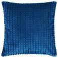 Kissenhülle Mary Blau 45x45cm - Blau, MODERN, Textil (45/45cm) - Mömax modern living