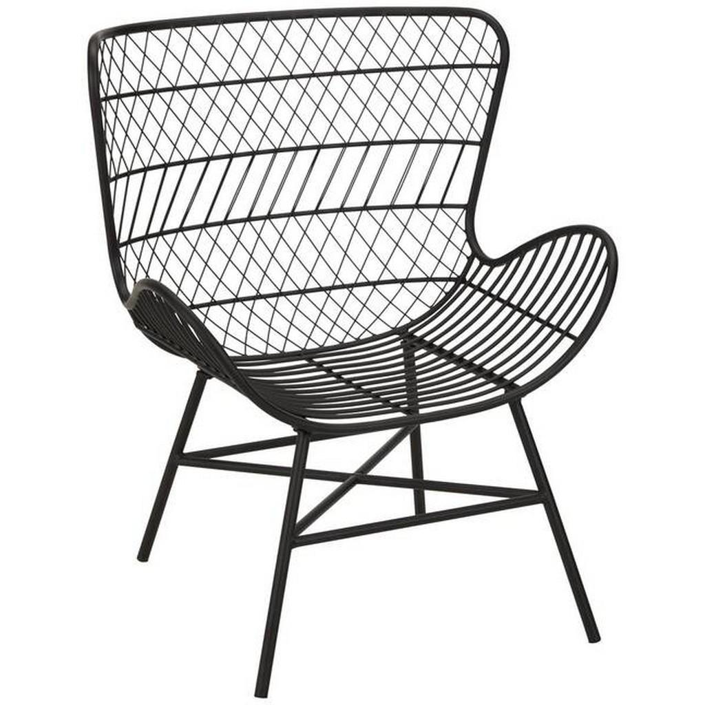 Stuhl aus Metall in Schwarz