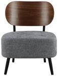 SESSEL Jonas - Grau, MODERN, Holzwerkstoff/Textil (58/72/64cm) - Modern Living