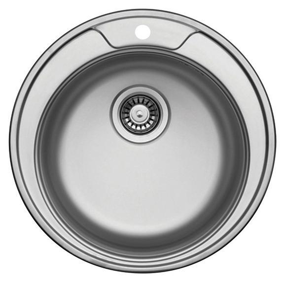 Pomivalno Korito Basic Round 45-s - nerjaveče jeklo, kovina (49cm)