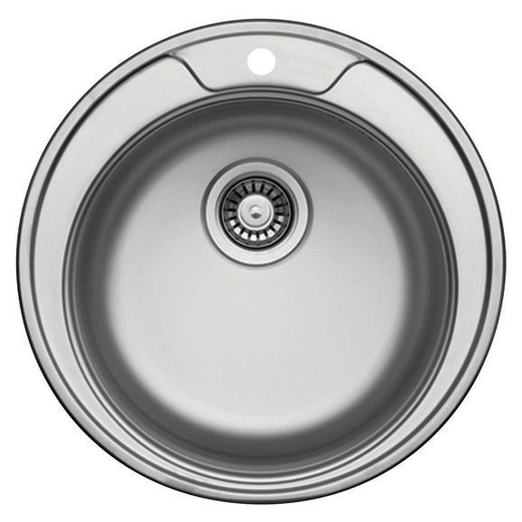Spüle Basic Round 45-s - Edelstahlfarben, Metall (49cm)