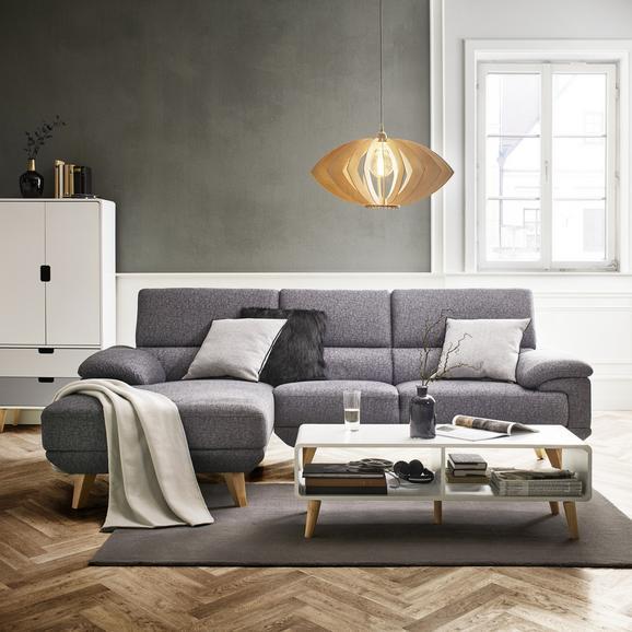 Wohnlandschaft in Grau 'Sandra' - Grau, MODERN, Holz/Textil (155/246cm) - Bessagi Home