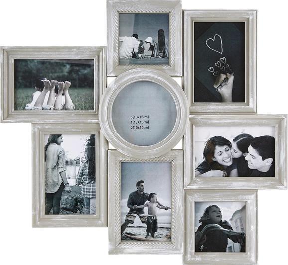 Bilderrahmen Sally, ca. 50x46,1x2cm - Grau, MODERN, Karton/Glas (50/46,1/2cm) - MÖMAX modern living