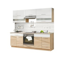 Kuhinjski Blok Multiforte - bela/hrast sonoma, Moderno, kovina/umetna masa (220/214.9/60cm)