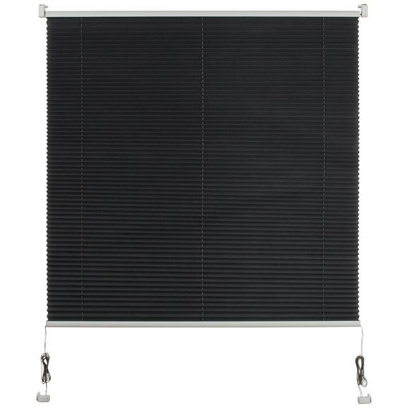 Plissee Free in Grau ca. 90x210cm - Grau, Textil (90/210cm) - Premium Living