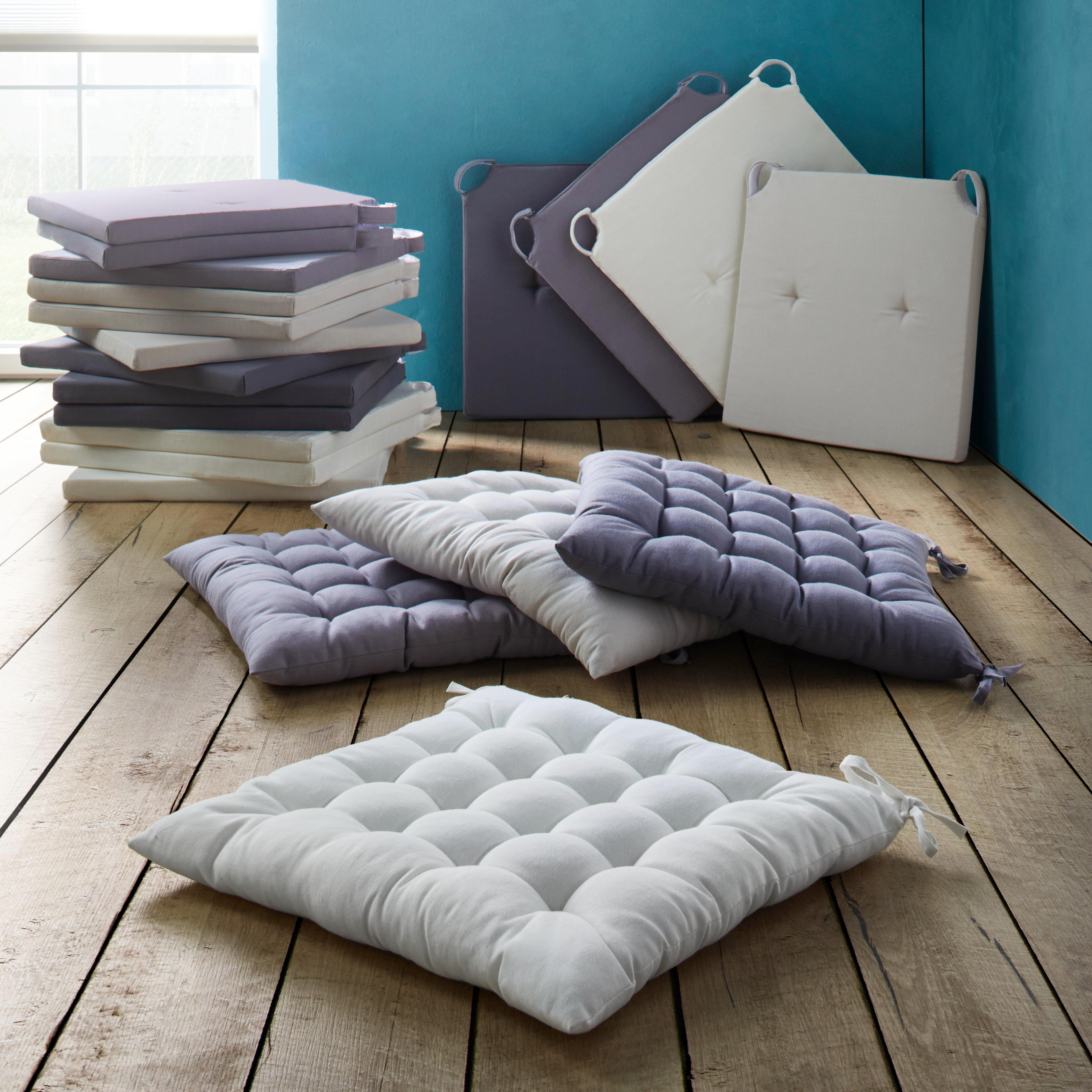 Sitzkissen Lilli 40x40cm - Naturfarben, KONVENTIONELL, Textil (40/40/3cm) - MÖMAX modern living