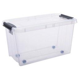 Aufbewahrungsbox Chaos ca. 71l - Transparent, MODERN, Kunststoff (72,5/39,5/39cm)