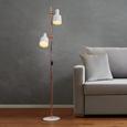 Stehleuchte Klara 2-flammig - Weiß/Kupferfarben, MODERN, Metall (30/23/152cm) - Modern Living