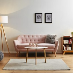 Sofa Anela 2,5 Sitzer - Rosa, MODERN, Holz/Textil (168/84/79cm) - Modern Living