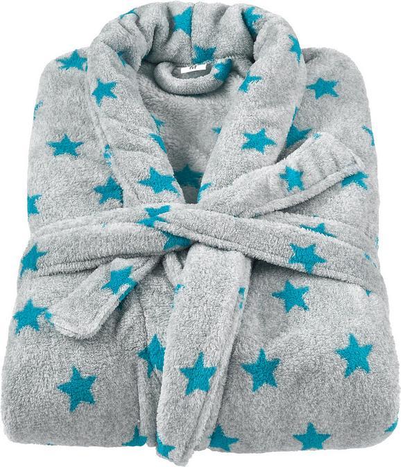 Fürdőköntös Sterne - petrol/szürke, textil (S-L) - Mömax modern living