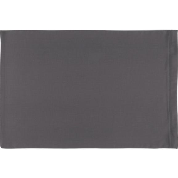 Kissenhülle Belinda, ca. 40x60cm - Anthrazit/Hellgrau, Textil (40/60cm) - Premium Living