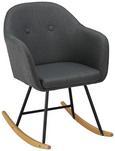 Schaukelstuhl Cameron - Dunkelgrau, MODERN, Holz/Textil (58/80/69cm) - Mömax modern living
