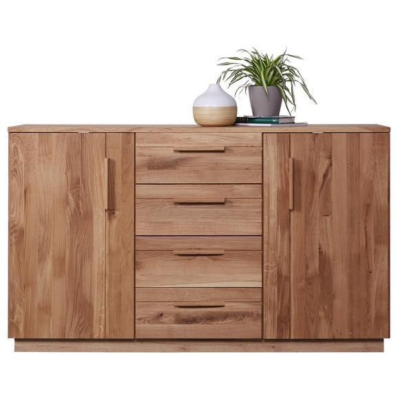 Kommode in Eichefarben teilmassiv - Eichefarben, KONVENTIONELL, Holz/Holzwerkstoff (150/89/45cm) - Premium Living