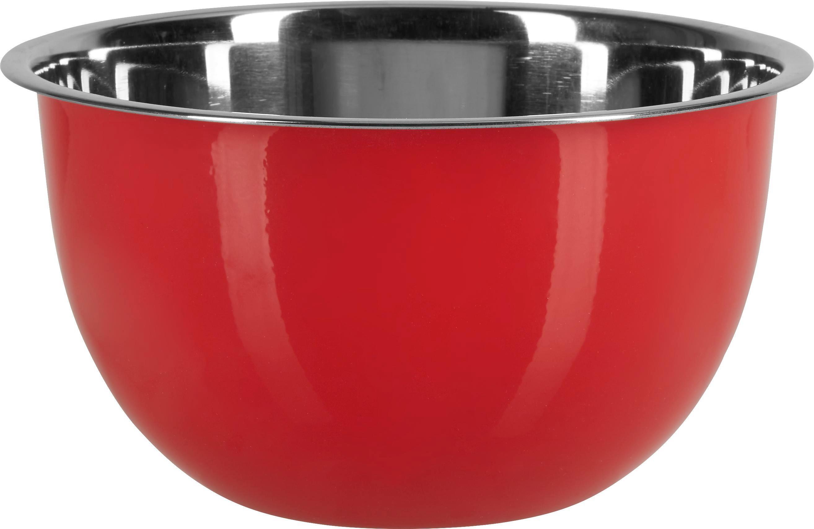 Schüssel Dani in Rot, Ø ca. 22cm - Edelstahlfarben/Rot, Metall (22/12cm) - MÖMAX modern living