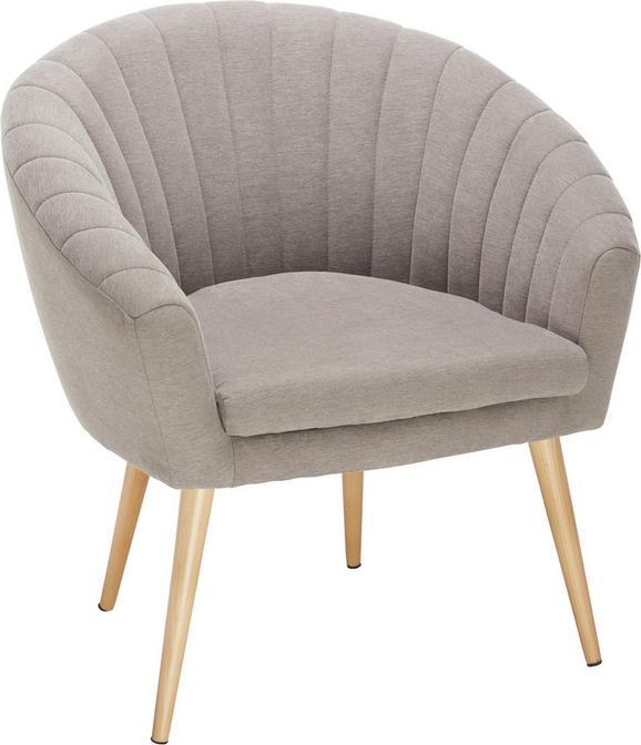 Fotelj Bea -exklusiv- - naravna/rjava, Moderno, tekstil (75/77/45/66cm)