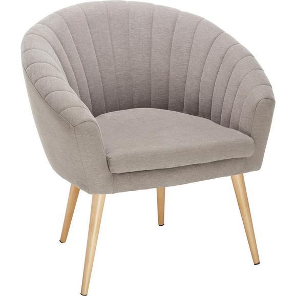 FOTELJA BEA -EXLUSIV- - prirodne boje/smeđa, Design, tekstil (75/77/45/66cm) - Modern Living