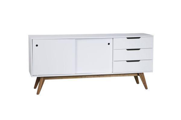 Sideboard in Natur/Weiß - Naturfarben/Weiß, MODERN, Holz/Holzwerkstoff (180/80/45cm) - MÖMAX modern living