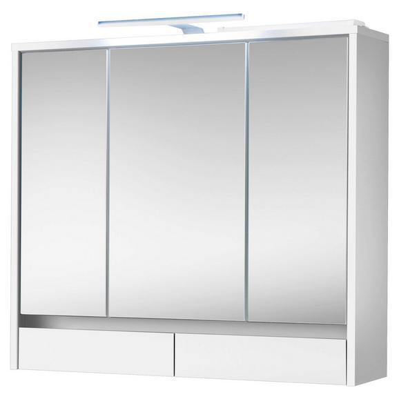 Spiegelschrank Eight Weiß - Weiß, MODERN, Glas/Holzwerkstoff (80/72/21cm)
