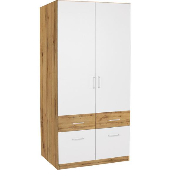 Omara Za Oblačila Aalen-extra - aluminij/bela, Konvencionalno, umetna masa/leseni material (91cm) - Mömax modern living