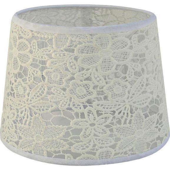 Leuchtenschirm Rossi, max. 60 Watt - Weiß, ROMANTIK / LANDHAUS, Textil (16,5-20/15,6cm) - Mömax modern living