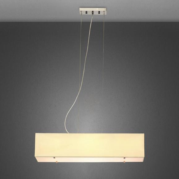 Pendelleuchte Agneta 4-flammig - Beige, Textil/Metall (72/22/160cm) - Mömax modern living