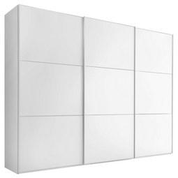 SCHWEBETÜRENSCHRANK Includo B:298cm Weiß Dekor - Alufarben/Weiß, MODERN, Holzwerkstoff/Metall (298/222/68cm) - Bessagi Home