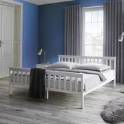 Holzbett Pina 180x200cm - Weiß, MODERN, Holz (206/188/82cm) - Modern Living