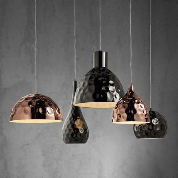Pendelleuchte Alex 5-flammig - Silberfarben/Kupferfarben, KONVENTIONELL, Metall (110/68/120cm) - Modern Living