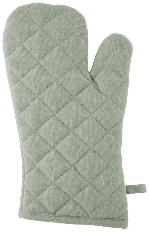 Kuhinjska Rokavica Ameline - svetlo zelena, Romantika, tekstil (18/32cm) - Zandiara
