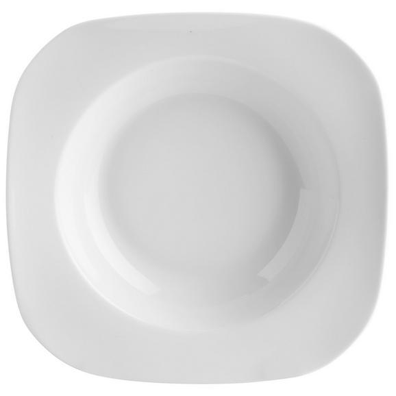 Suppenteller Sid aus Porzellan - Weiß, MODERN, Keramik (24/20,8/3,9cm) - Mömax modern living