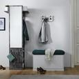 Garderobe Aldona - Graphitfarben, MODERN, Holz (70/188/35cm) - Bessagi Home
