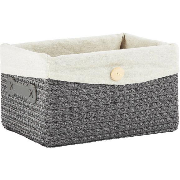 Košara Za Regal Denise S - siva, Romantika, umetna masa/tekstil (29/17/21cm) - Mömax modern living