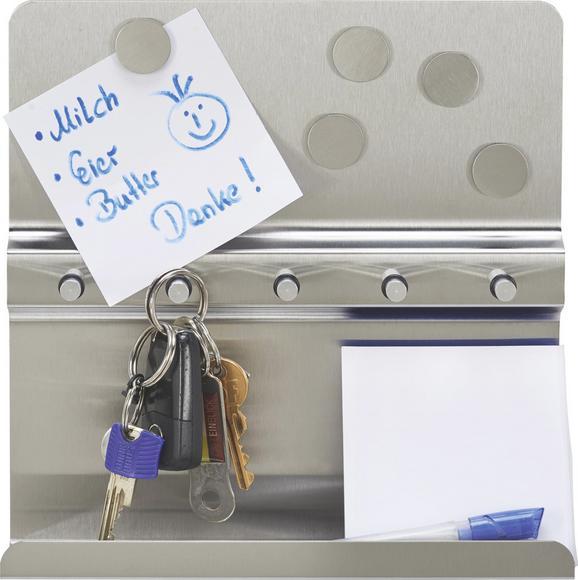 Kulcstartó Polc Key -sb- - nemesacél színű, fém (25/6/25cm) - MÖMAX modern living