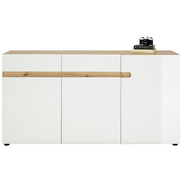 Sideboard in Weiß Hochglanz - Eichefarben/Weiß, MODERN (164/87/42cm) - Mömax modern living