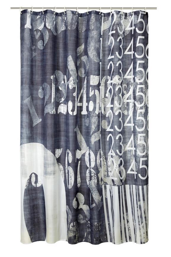 Kopalniška Zavesa Vintage - črna/bela, Trendi, tekstil (180/200cm) - Mömax modern living