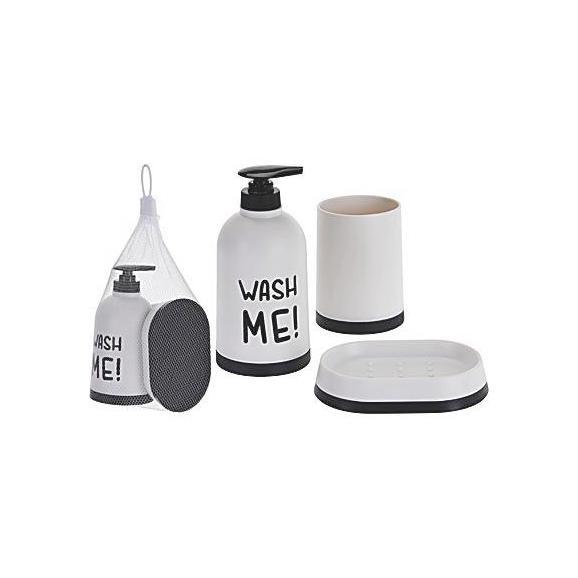 Fürdőszobai Kiegészítő Szett 170429910 - Fehér, Műanyag (15/10/24cm)