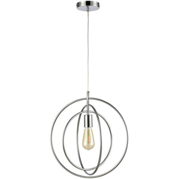 Hängeleuchte Roundi max. 40 Watt - Silberfarben, LIFESTYLE, Metall (40/150cm) - Premium Living