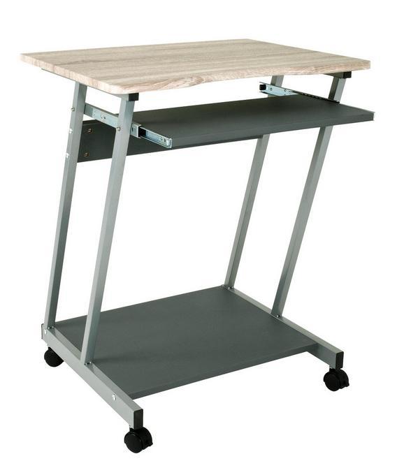 Schreibtisch in Eichefarben - Eichefarben/Anthrazit, Holzwerkstoff/Kunststoff (60/75/48cm) - BASED
