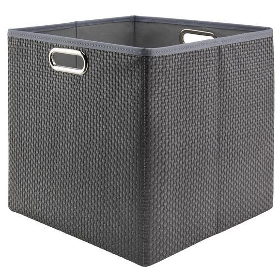 Aufbewahrungsbox Larry Grau - Grau, Kunststoff/Metall (33/32/33cm) - Mömax modern living