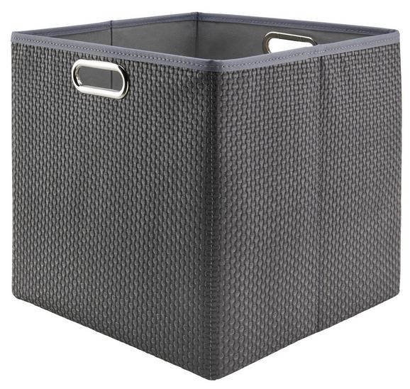 Tárolódoboz Larry - Szürke, Műanyag/Fém (33/32/33cm) - Mömax modern living