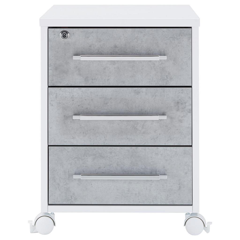 Rollcontainer Grau/Weiß