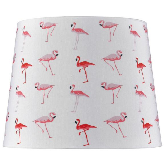Lámpaernyő Flamini - Fehér, Lifestyle, Textil (20cm) - Modern Living