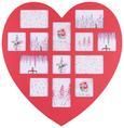 Bilderrahmen Heart, ca. 60x59cm - Dunkelrosa/Rot, ROMANTIK / LANDHAUS, Holzwerkstoff/Kunststoff (60/59cm) - Mömax modern living