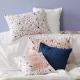 Zierkissen Terrazzo in Weiß - Blau/Rosa, MODERN, Textil (45/45cm) - Mömax modern living