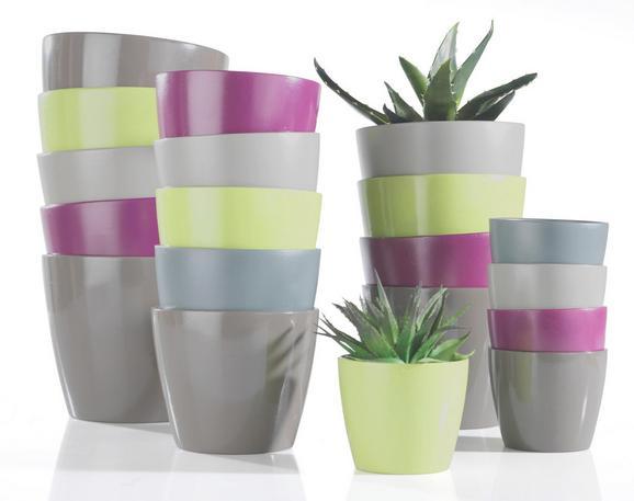 Blumentopf Luisa in verschiedenen Farben - Braun/Weiß, MODERN, Keramik (12/10cm) - BASED