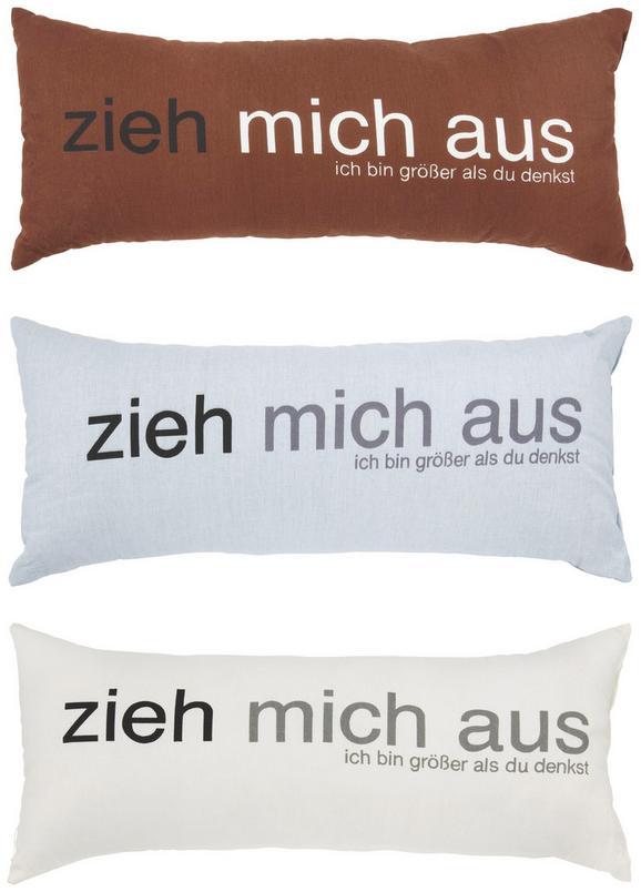 Zierkissen Zieh Mich Aus, ca. 30x70cm - Rot/Schwarz, Textil (30/70cm) - Mömax modern living