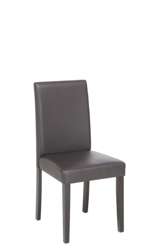Stuhl in Braun aus Holz - Dunkelbraun/Braun, KONVENTIONELL, Holz/Textil (45/95/55cm) - BASED