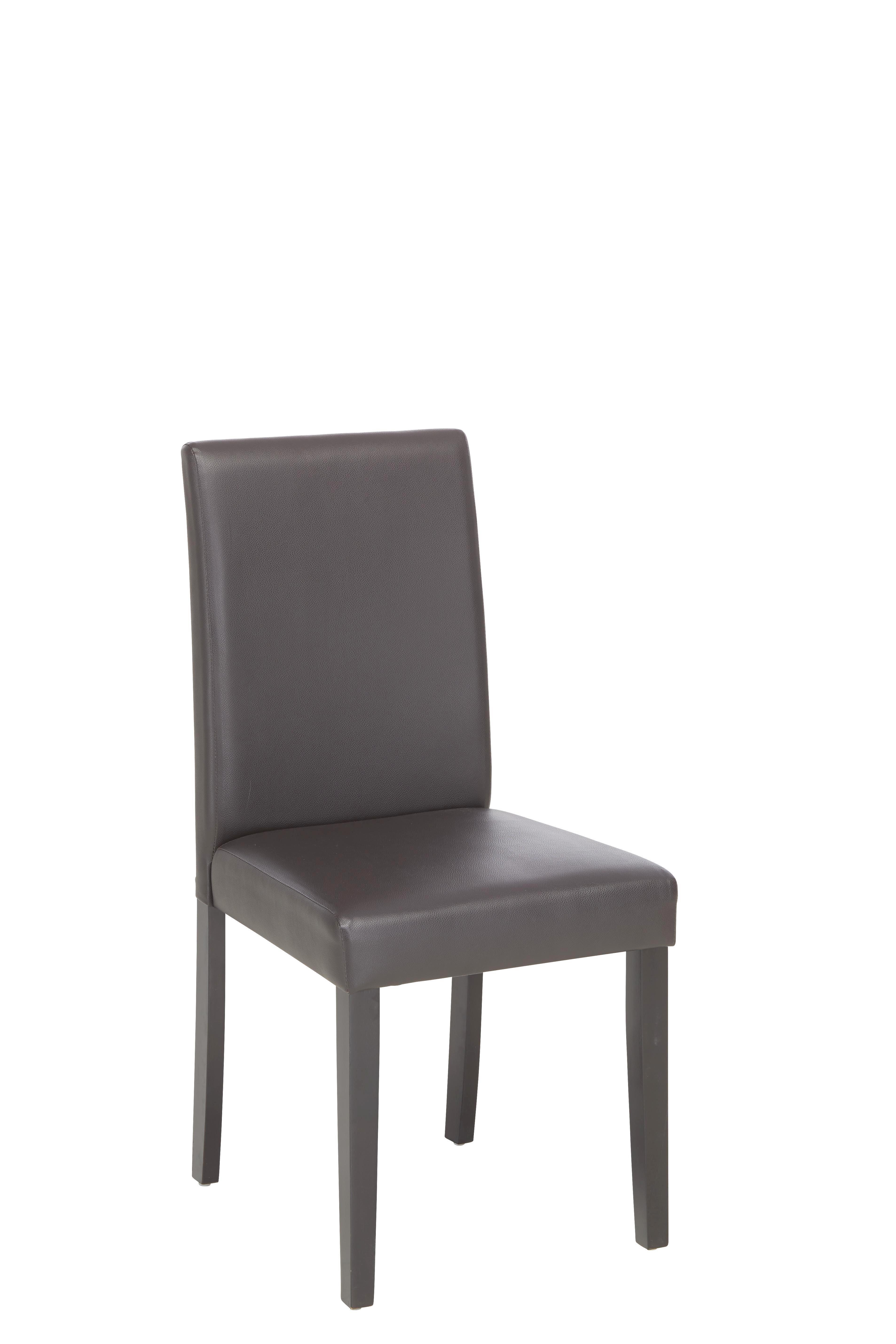 Szék Eva Ii - sötétbarna/barna, konvencionális, textil/fa (45/95/55cm) - BASED